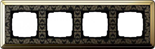 GIRA 0214672 Rahmen 4-Fach ClassicX Art Messing-Schwarz