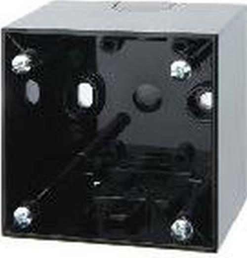 Berker 911512510 Aufbau-Gehäuse hoch AP, Integro Flow/Pure, Schwarz Glänzend