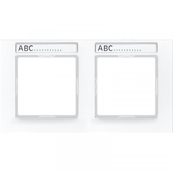 JUNG AC5820BFNAWW Rahmen mit Schriftfeld 2-Fach Alpinweiß