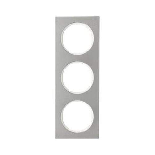 Berker 10132214 Rahmen 3Fach R.3 Edelstahl/Polarweiß