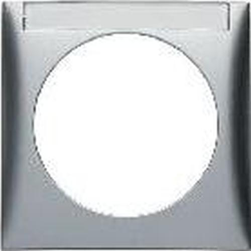 Berker 918032568 Rahmen, mit Beschriftungsfeld, Integro Flow, Chrom Matt, Lackiert
