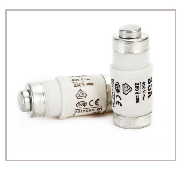 Mersen 3x25A Neozed-Sicherungssockel D02-3-Polig