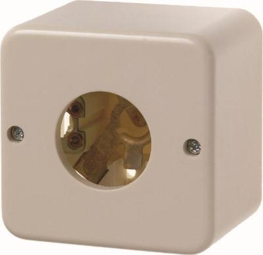 Berker 510040 Drucktaster und Lichtsignal E10 Aufputz Weiß, Glänzend