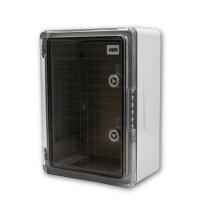 ABS Schaltschrank 600x400x200  incl. Montageplatte Transparent IP65