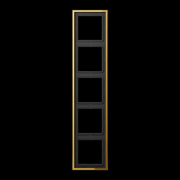 JUNG GO2985 Rahmen 5-Fach LS-Serie Goldfarben