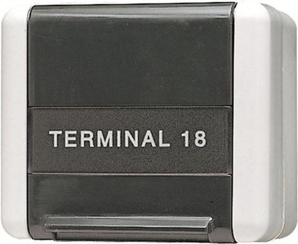 JUNG 854W Datenanschlussgehäuse mit Schriftfeld