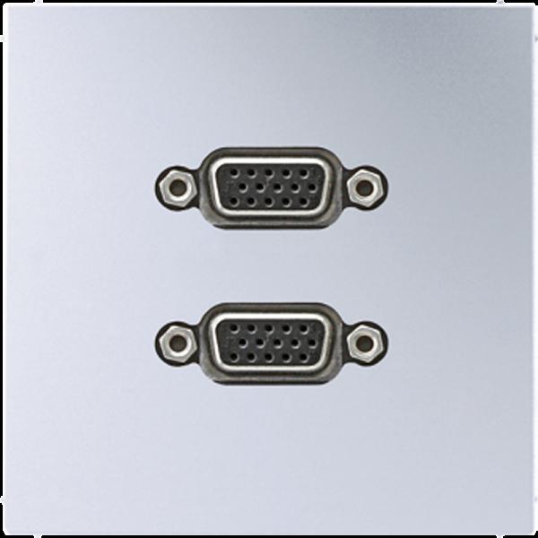 JUNG MAAL1143 2xVGA Aluminium