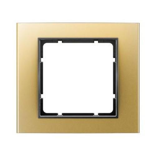 Berker 10113016 Rahmen 1Fach B.3 Alu, Gold/Anthrazit