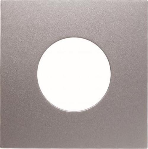 Berker 11241404 Zentralstück für Drucktaster und Lichtsignal E10 B.7 Alu, Matt