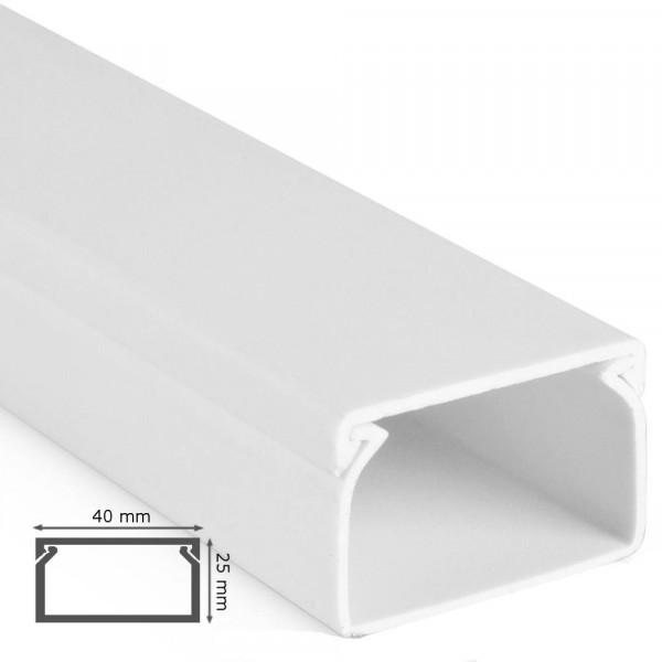 kabelkanal 25x40x2000mm alpinwei kabelkanal pvc bohren. Black Bedroom Furniture Sets. Home Design Ideas