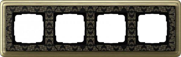GIRA 0214662 Rahmen 4-Fach ClassicX Art Bronze-Schwarz
