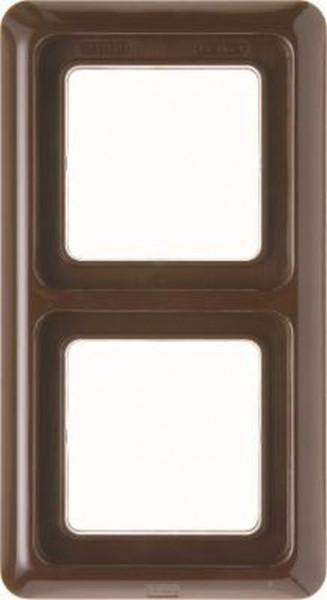 glänzend 133001 Berker Rahmen mit Dichtung 3-Fach wg Up IP44 braun