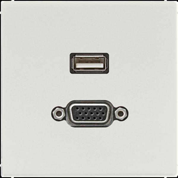 JUNG MALS1183LG USB2.0-VGA Lichtgrau