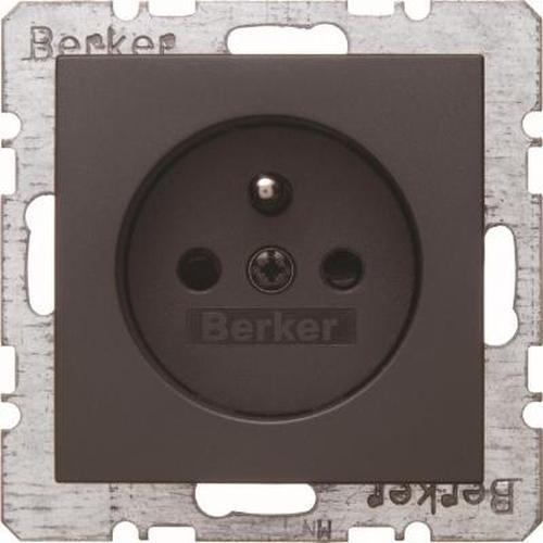 Berker 6765761606 Steckdose mit Schutzkontaktstift u. erh.BS B.3/B.7 Anthrazit, Matt
