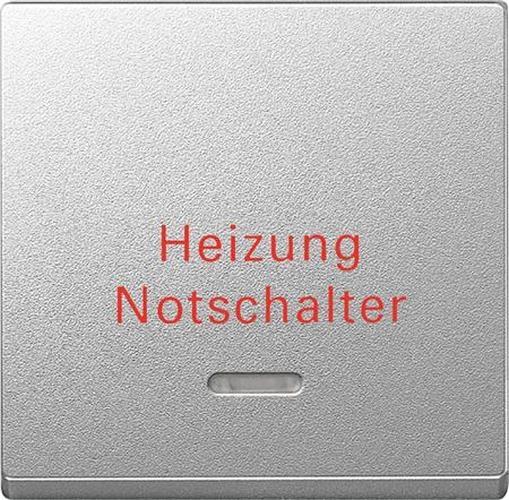 """Merten 431860 Kontroll-Wippe mit Aufdruck """"Heizung Notschalter"""" Aluminium"""