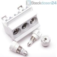 Mersen 3x20A Neozed-Sicherungssockel D02-3-Polig
