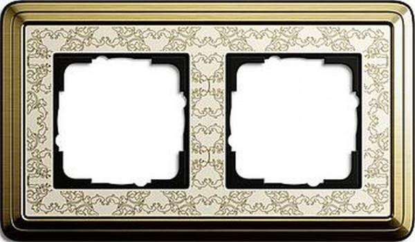 GIRA 0212663 Rahmen 2-Fach ClassicX Art Bronze-Cremeweiß