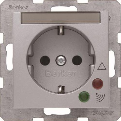 Berker 41081404 Steckdose SCHUKO mit Überspannungsschutz B.7 Alu, Matt