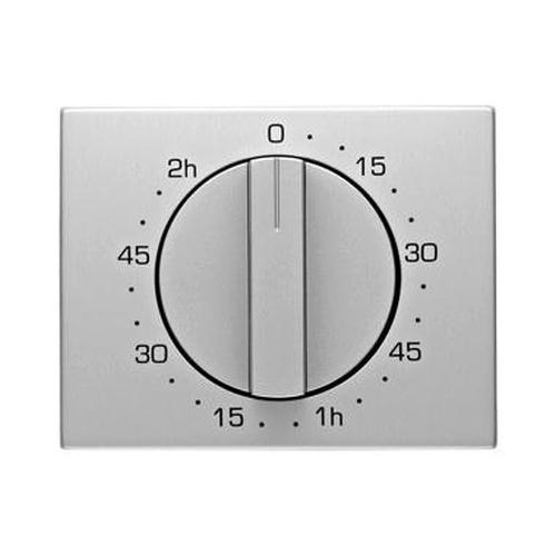 Berker 16357103 Zentralstück mit Regulierknopf für mechanische Zeitschaltuhr K.5 Alu