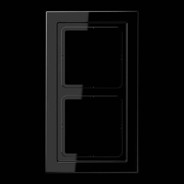 JUNG LSD982SW Rahmen 2-Fach LS-Serie Schwarz