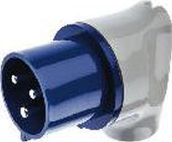 Berker 578301 CEE Winkelstecker 3-polig 32 A Verbindungssysteme Grau/Blau