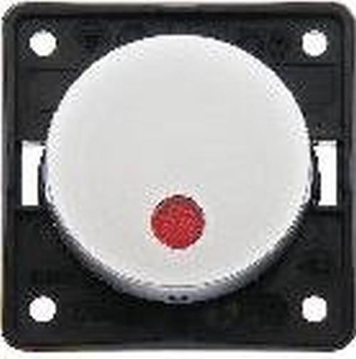 """Berker 937522568 Kontroll-Aussch. 2-polig m. Aufdruck """"0"""", roter Linse, Flow/Pure, Chrom M."""