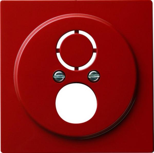 GIRA 027743 Abdeckung für Kommunikationstechnik mit Adapterset Rot