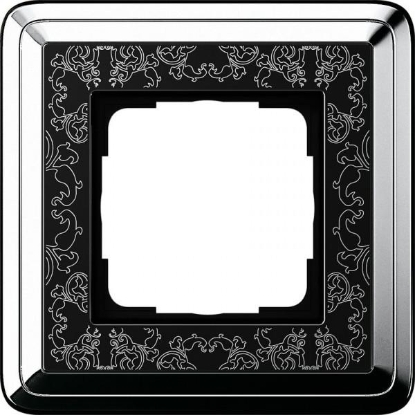 GIRA 0211682 Rahmen 1-Fach ClassicX Art Chrom-Schwarz