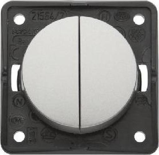 Berker 936552524 Integro Flow/Pure Serienschalter Edelstahl Lackiert