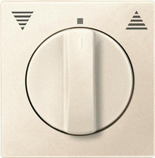 Merten 569844 Zentralplatte Jalousie mit Drehknopf Weiß