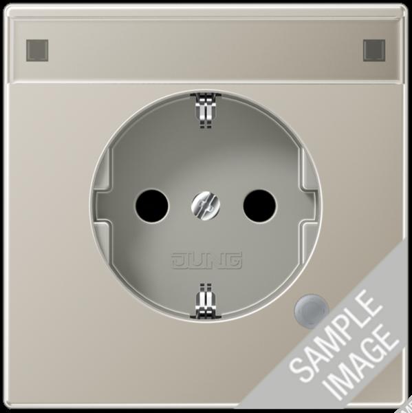 JUNG AL1520NAKO Steckdosen-Einsatz mit Funktionsanzeige Aluminium