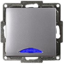 Visage Ein/Ausschalter mit LED Silber