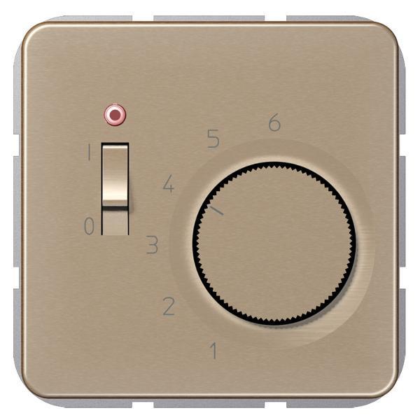 """JUNG TRCD231GB Raumtemperaturregler """"Öffner"""" Gold-Bronze"""