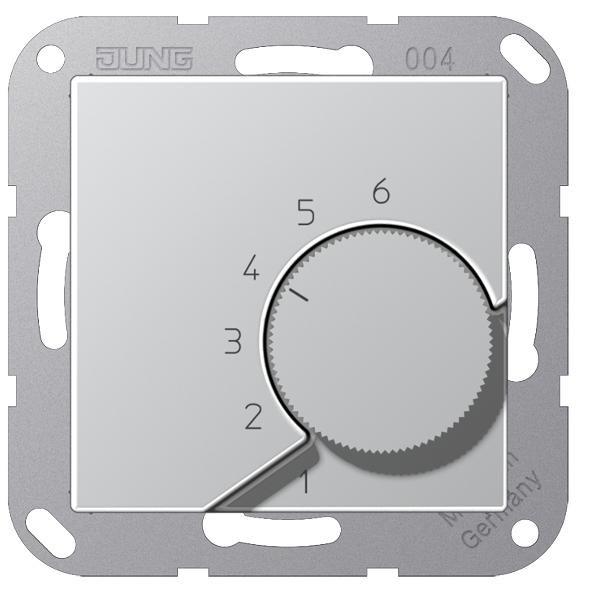 """JUNG TRA246AL Raumtemperaturregler """"Wechsler"""" Aluminium"""