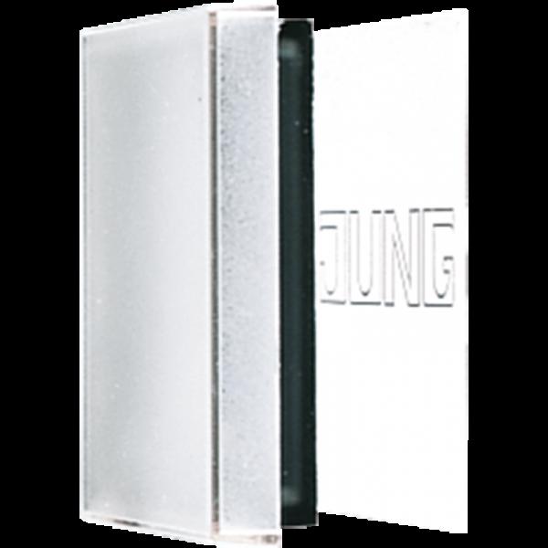 JUNG LS990NAGLPL Plexihaube mit Einlage für Schriftfeld 66 x 66 mm