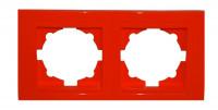 Moderna 2-Fach Abdeckrahmen Rot