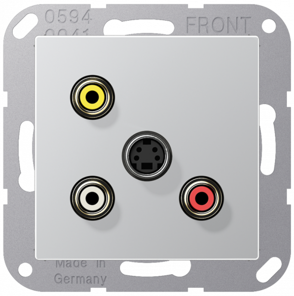 JUNG MAA1051AL Cinch Audio-Composite Video-S-Video Aluminium