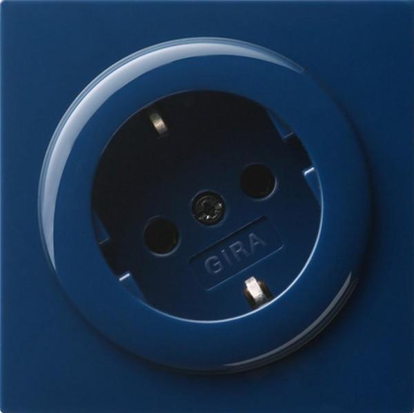 GIRA 044846 Steckdosen-Einsatz 30° Blau