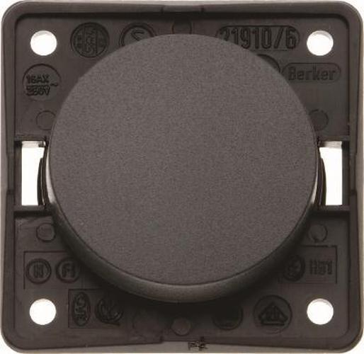 """Berker 936522510 Ausschalter 2-polig mit Aufdruck """"0"""", Integro Flow/Pure, Schwarz Glänzend"""