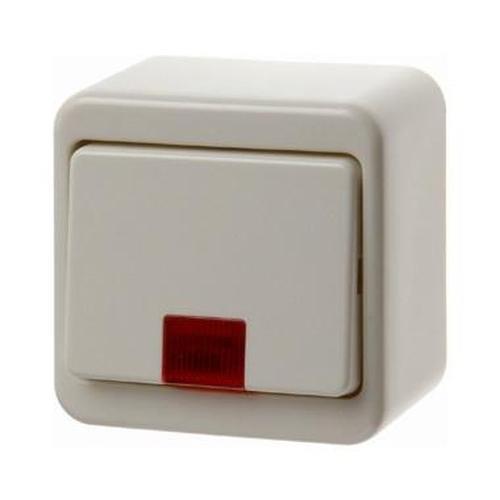 Berker 50069940 Wipptaster mit 5 beiliegenden Linsen Aufputz Weiß, Glänzend