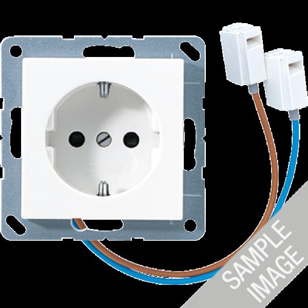 JUNG A520-OBFLEDW Steckdosen-Einsatz mit LED Orientierungslicht Cremeweiß