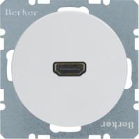 Berker 3315432089 High Definition Steckdose mit 90°-Steckanschluss R.1/R.3 Polarweiß, Glänzend