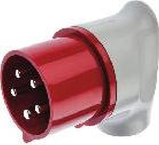 Berker 578201 CEE Winkelstecker 5-polig 32 A Verbindungssysteme Grau/Rot