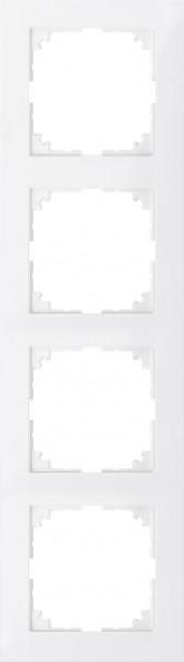 Merten MEG4040-3619 Rahmen 4-Fach M-Pure Polarweiß