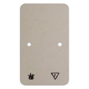 Berker 105340 Selbstverlöschende Bodenplatte Aufputz Weiß