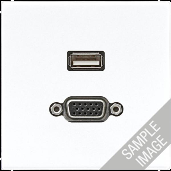 JUNG MALS1183 USB2.0-VGA Cremeweiß