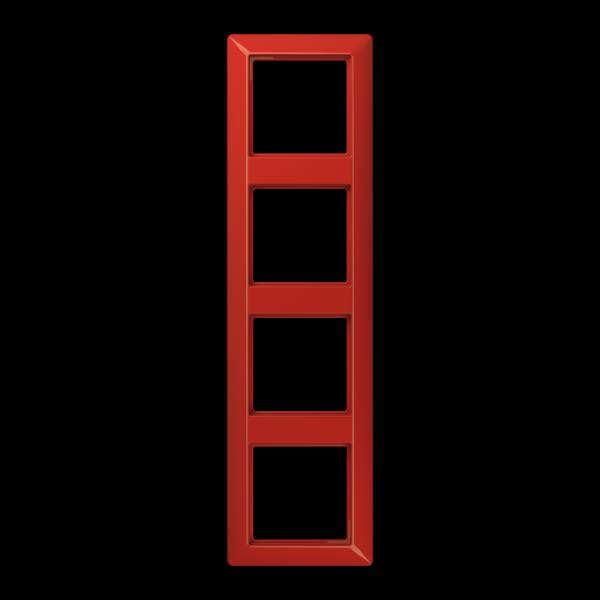 JUNG AS584BFRT Rahmen 4-Fach Rot