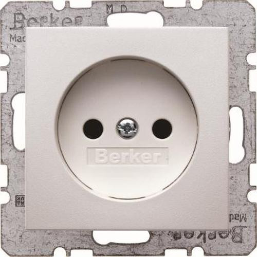 Berker 6167031909 Steckdose ohne Schutzkontakt S.1/B.3/B.7 Polarweiß, Matt