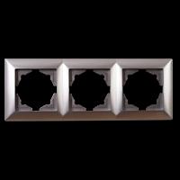 Visage 3-Fach Abdeckrahmen Silber