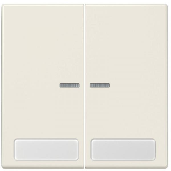JUNG LS995NAKO5 Serien-Kontroll-Wippe mit Schriftfeld Creme-Weiß